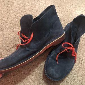 Navy Clark's Desert Boot